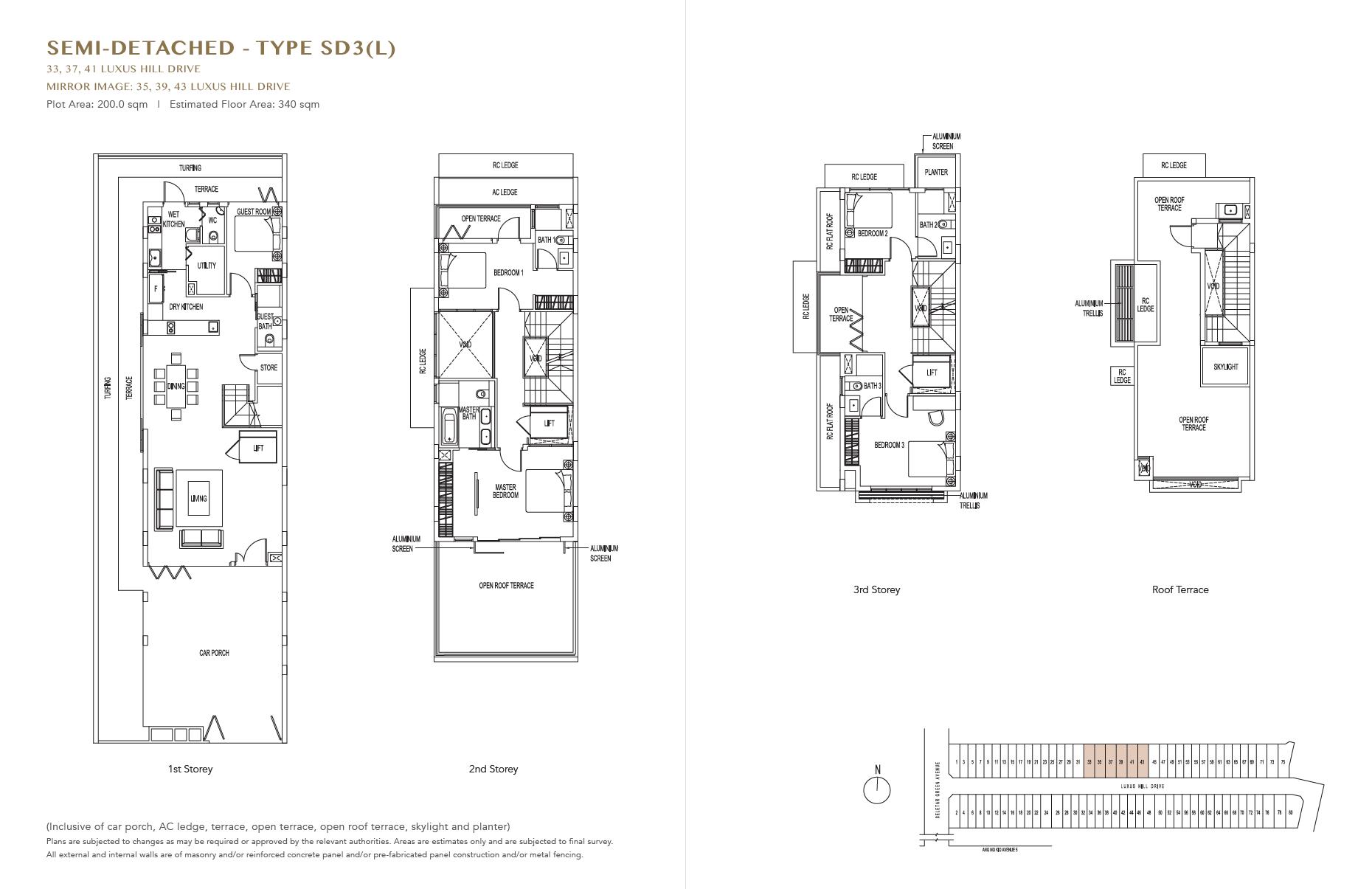 Floor Plan Luxus Hills